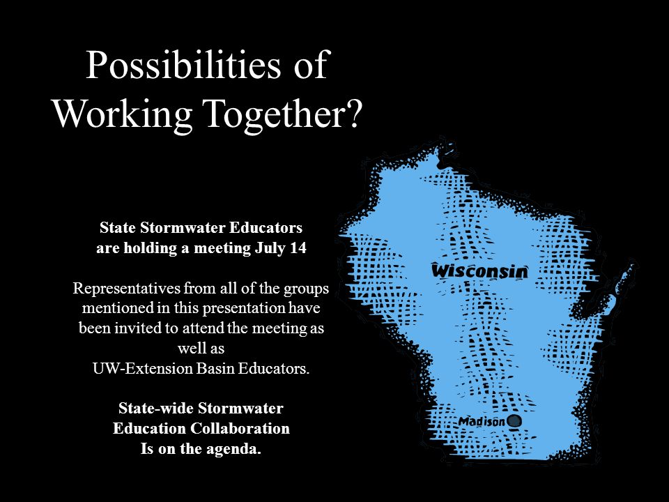 Possibilities of Working Together State Stormwater Educators