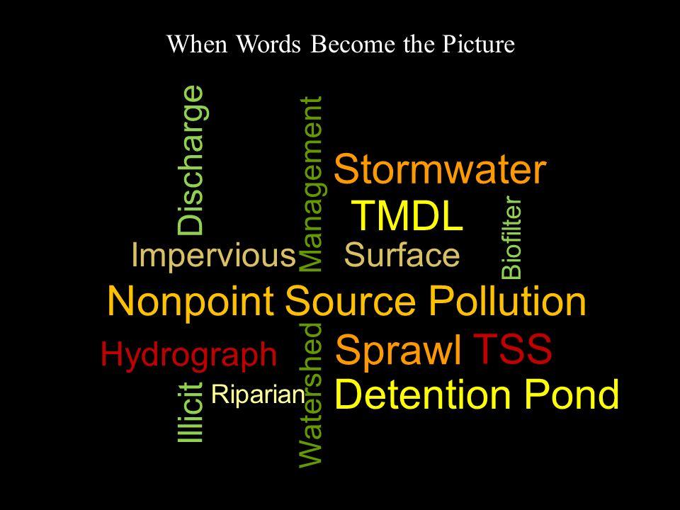 Nonpoint Source Pollution Sprawl TSS Detention Pond