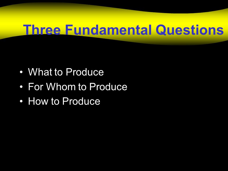 Three Fundamental Questions