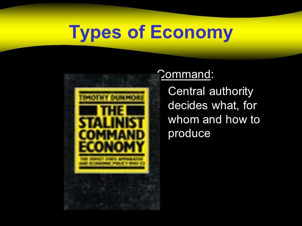 Types of Economy Command:
