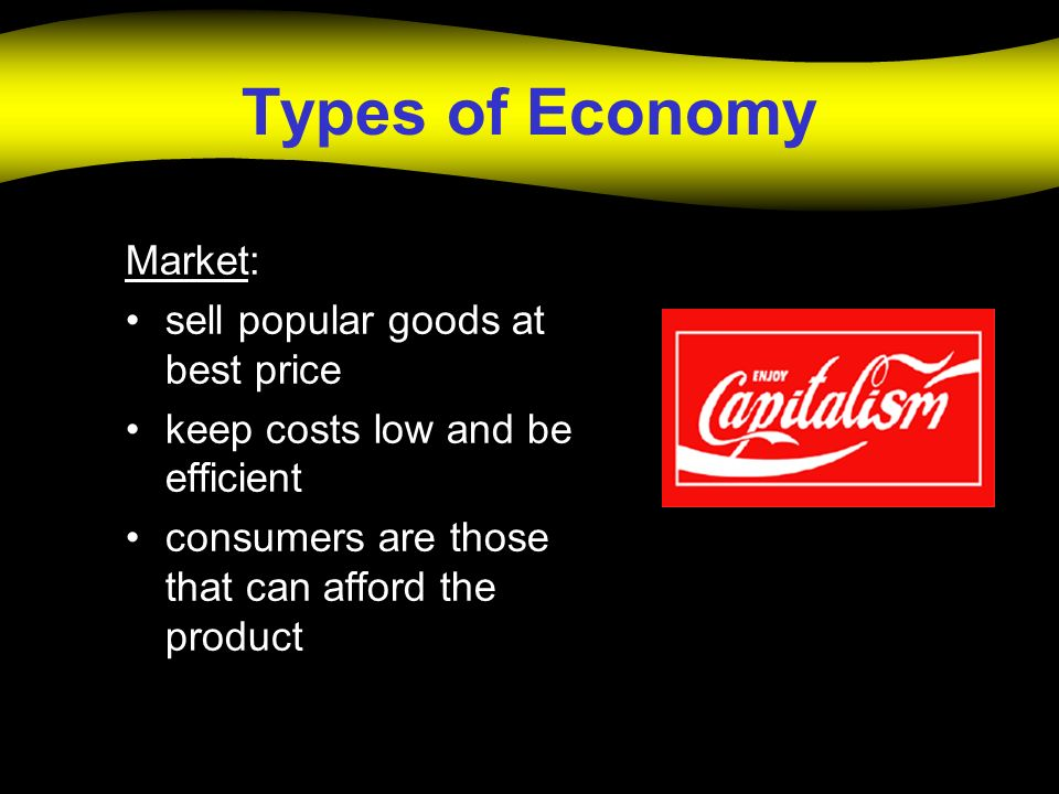 Types of Economy Market: sell popular goods at best price