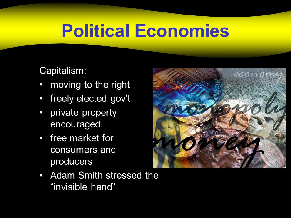 Political Economies Capitalism: moving to the right