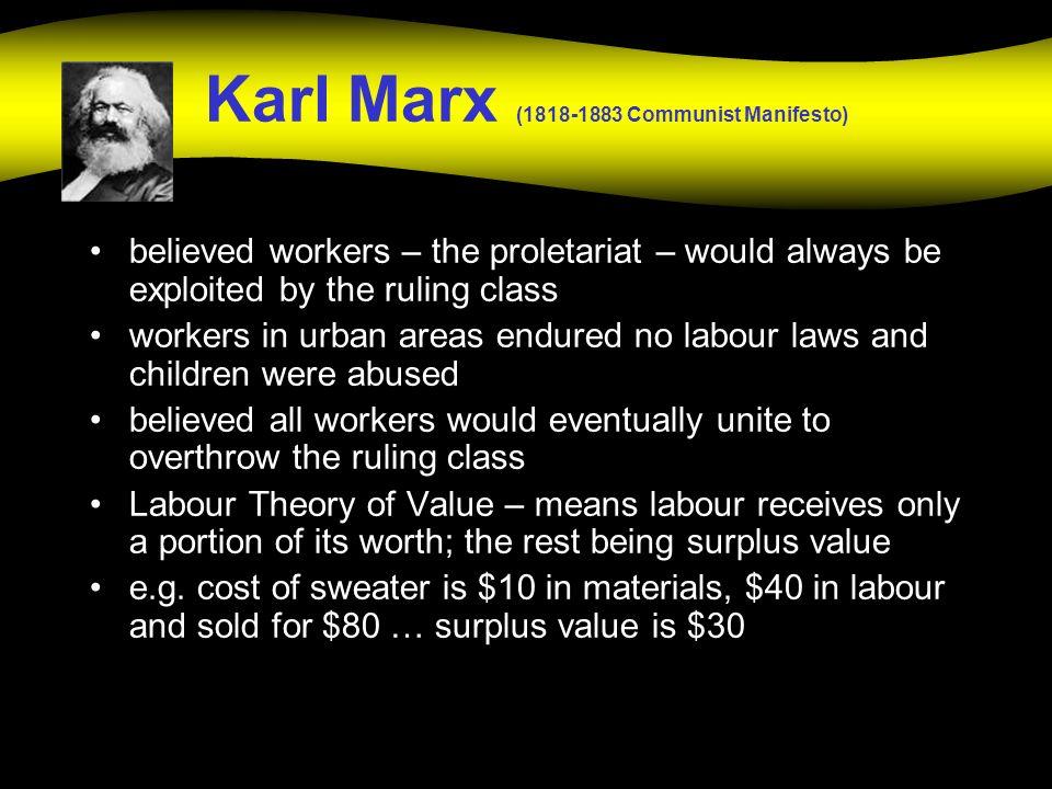 Karl Marx (1818-1883 Communist Manifesto)