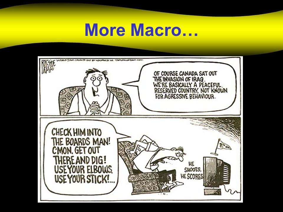 More Macro…