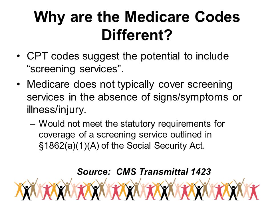 Why are the Medicare Codes Different