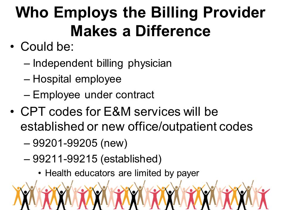 Who Employs the Billing Provider Makes a Difference