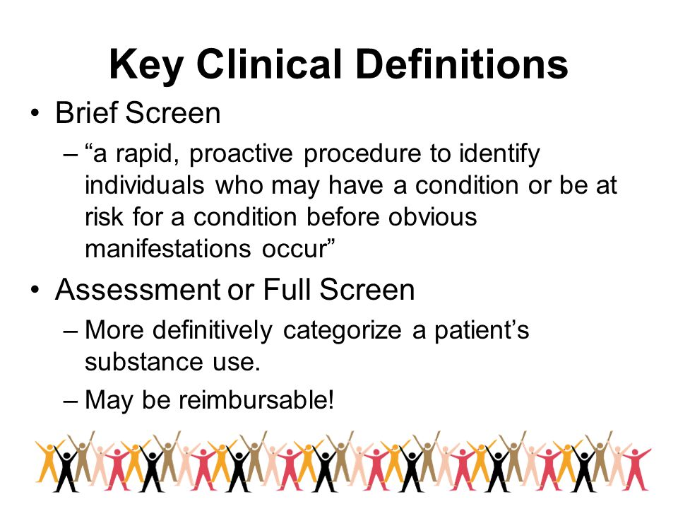 Key Clinical Definitions