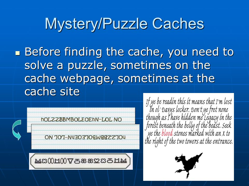 Mystery/Puzzle Caches