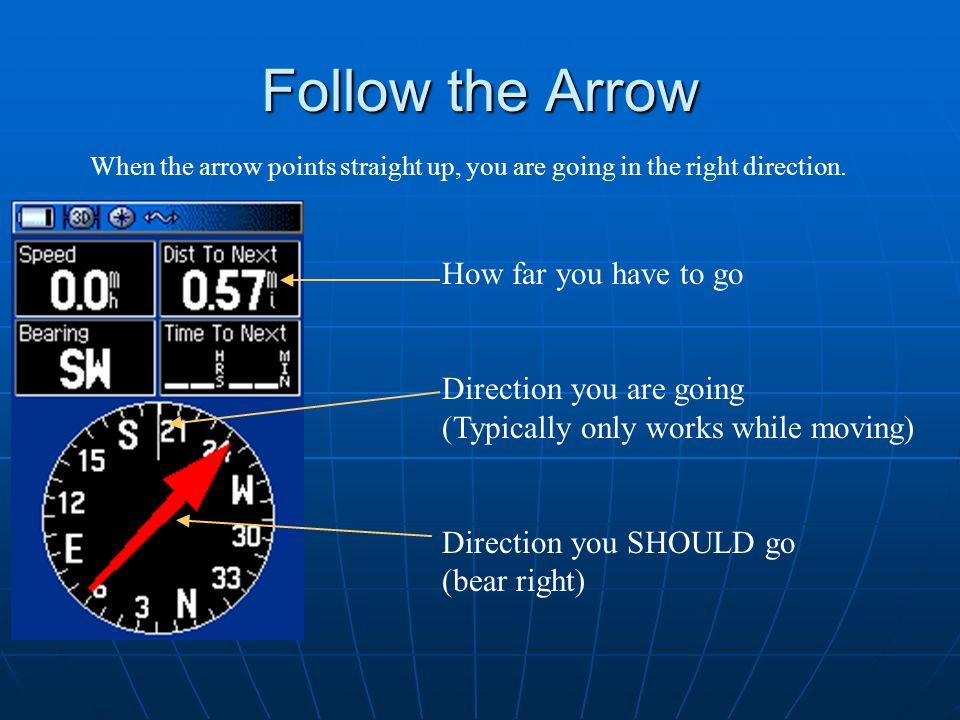 Follow the Arrow How far you have to go