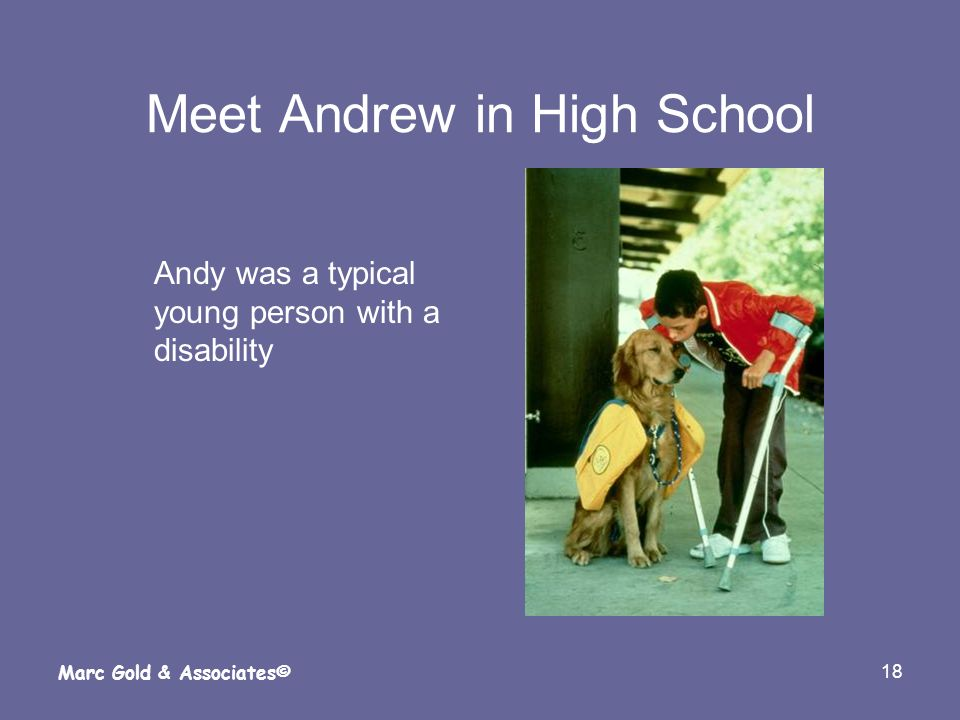 Meet Andrew in High School
