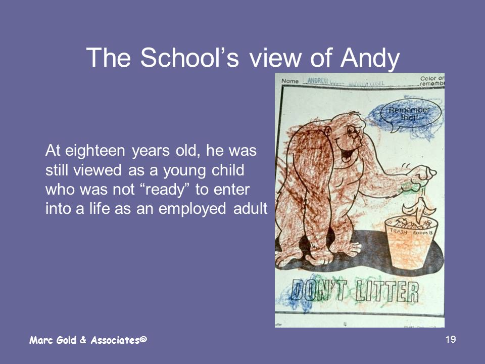 The School's view of Andy