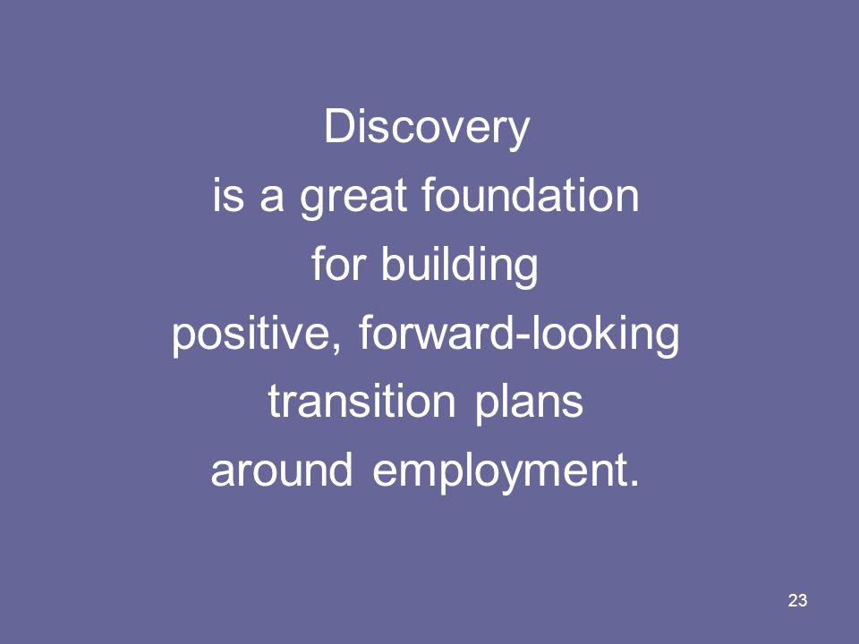 positive, forward-looking