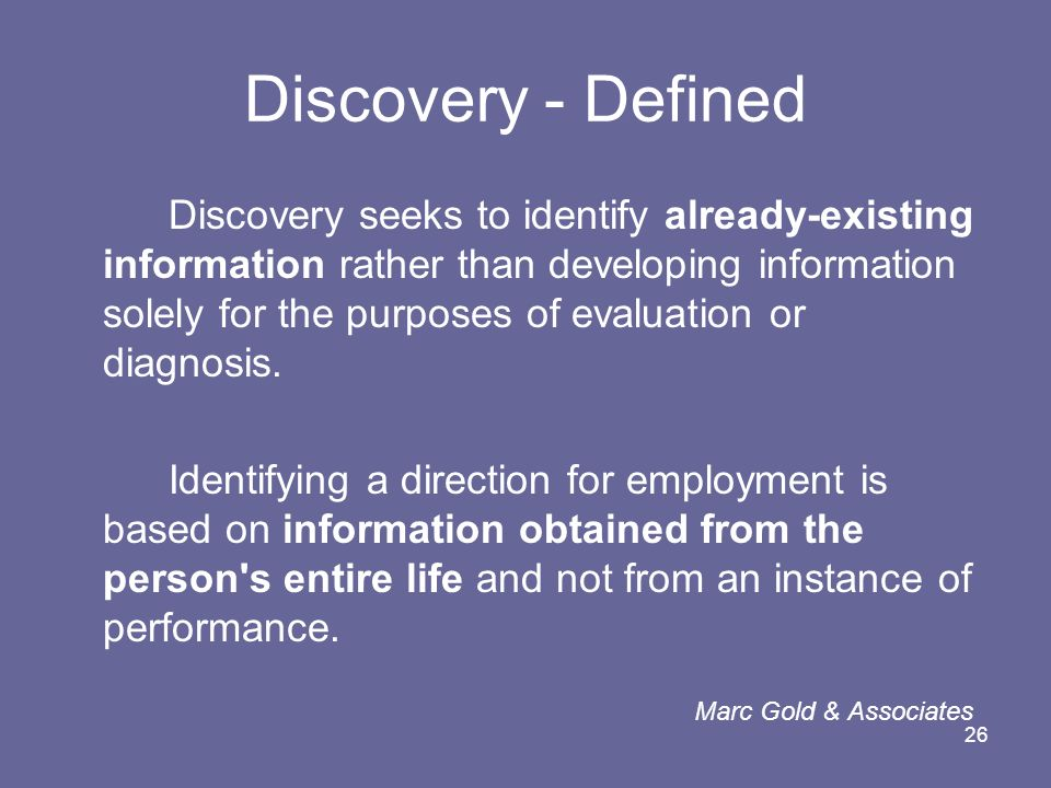 Discovery - Defined