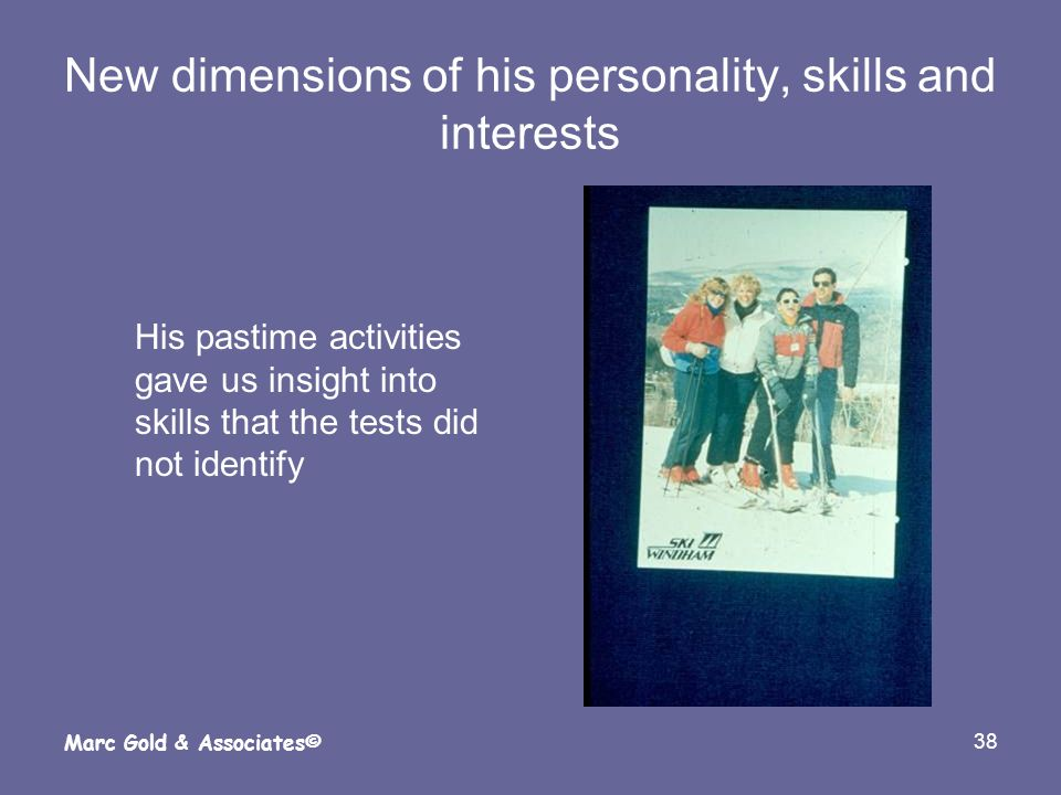 New dimensions of his personality, skills and interests