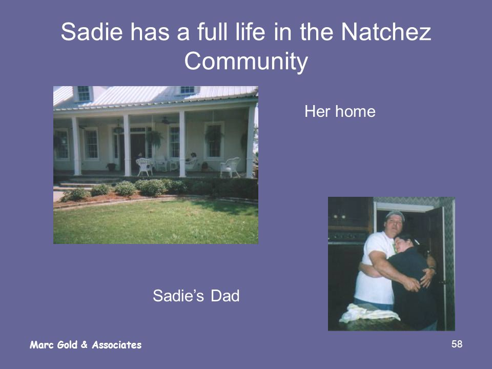 Sadie has a full life in the Natchez Community