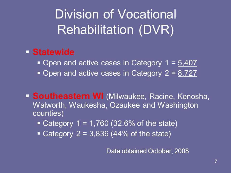 Division of Vocational Rehabilitation (DVR)
