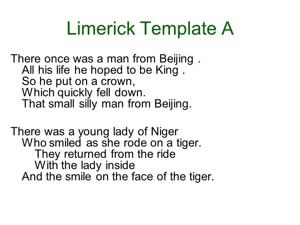 Limerick Template A