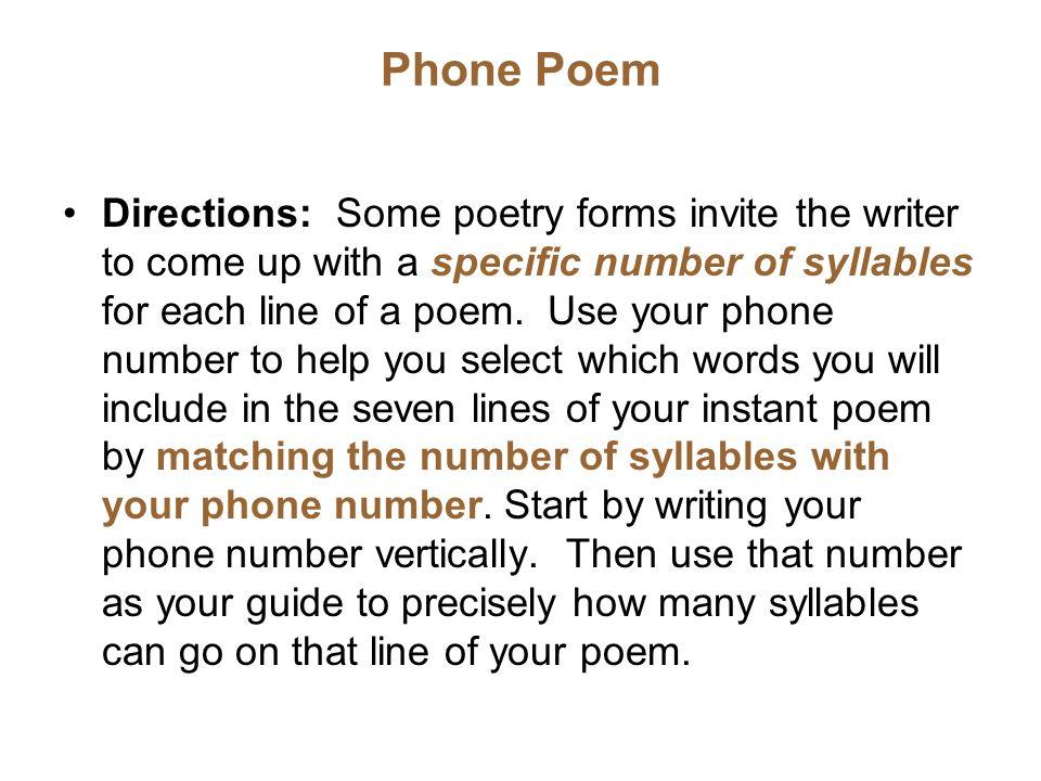 Phone Poem