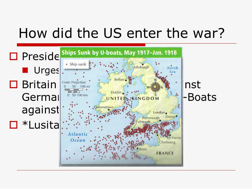 How did the US enter the war