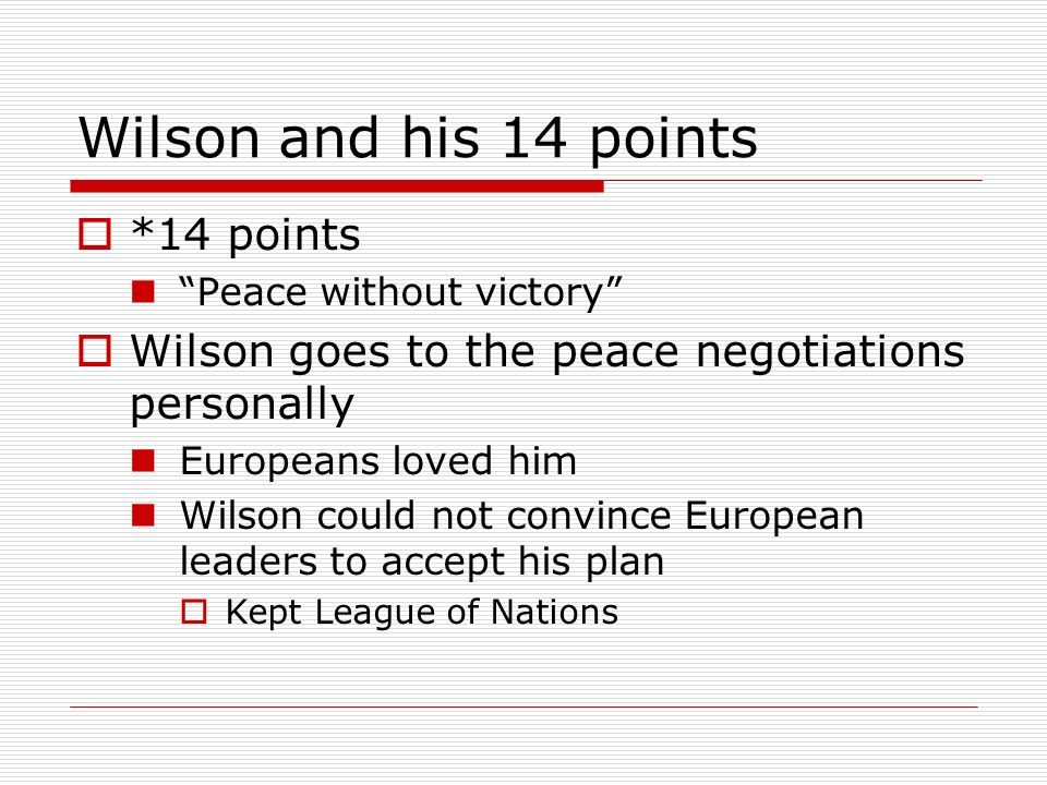 Wilson and his 14 points *14 points