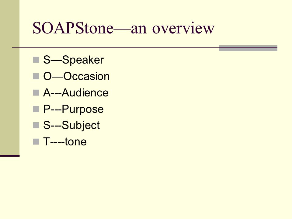 SOAPStone—an overview
