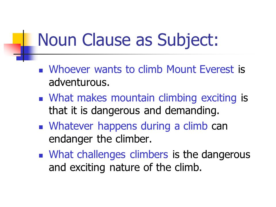 Noun Clause as Subject: