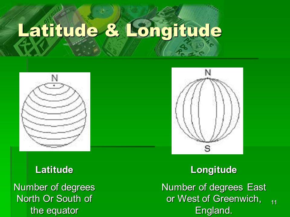 Latitude & Longitude Latitude
