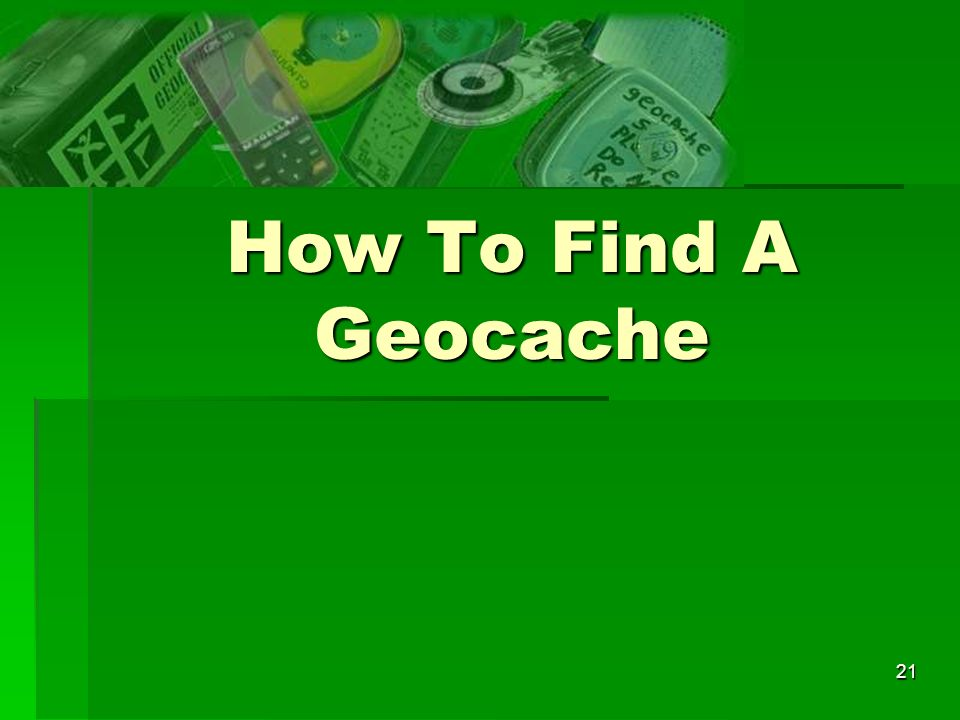 How To Find A Geocache