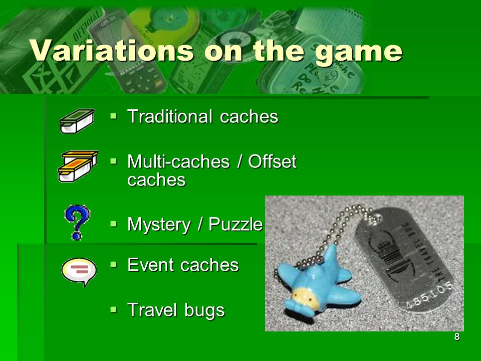 Variations on the game Traditional caches Multi-caches / Offset caches