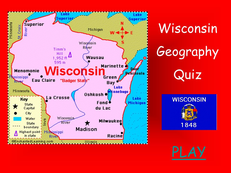 Wisconsin Geography Quiz PLAY