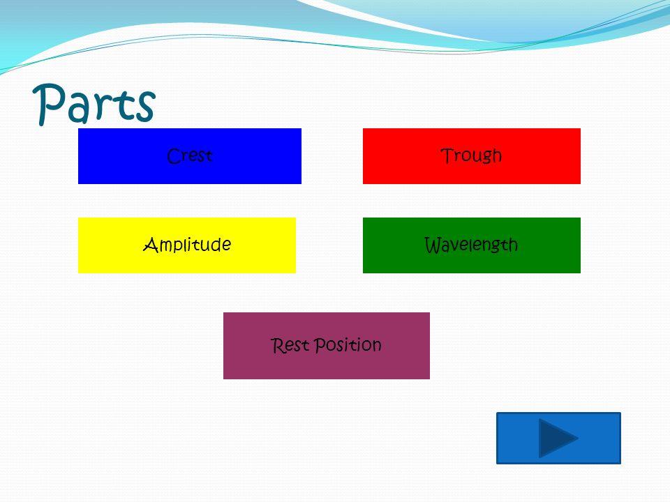 Parts Crest Trough Amplitude Wavelength Rest Position