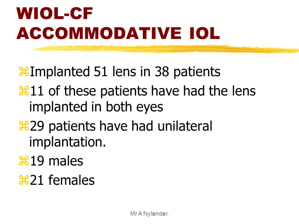 WIOL-CF ACCOMMODATIVE IOL