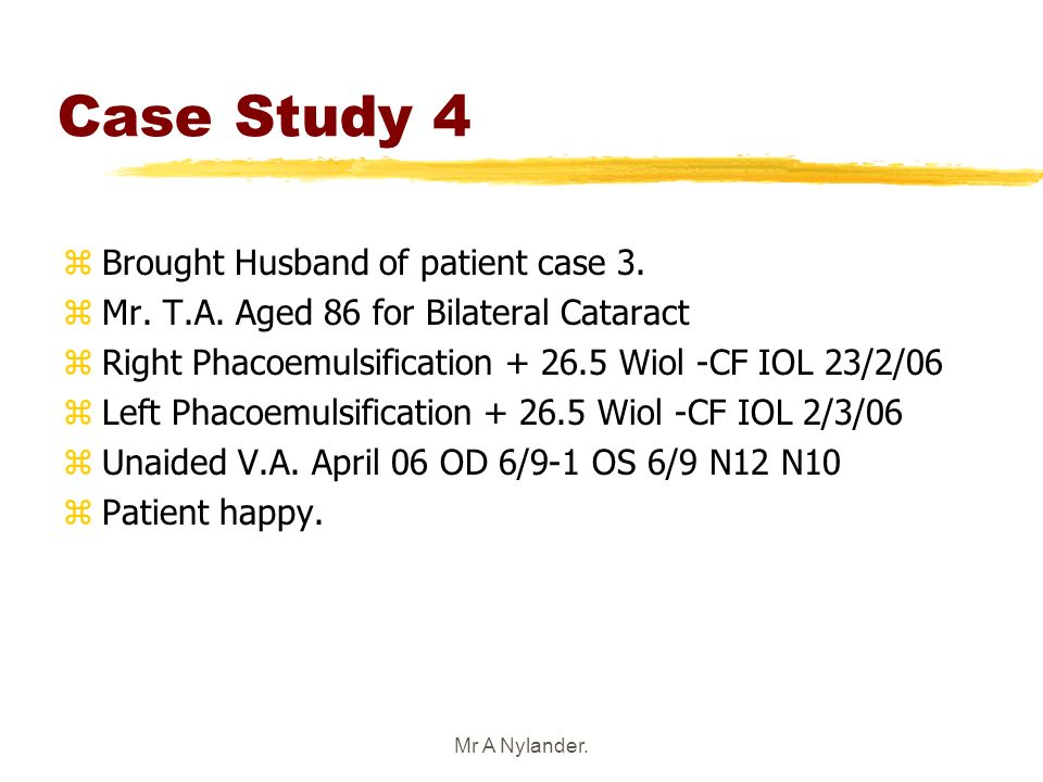 Case Study 4 Brought Husband of patient case 3.