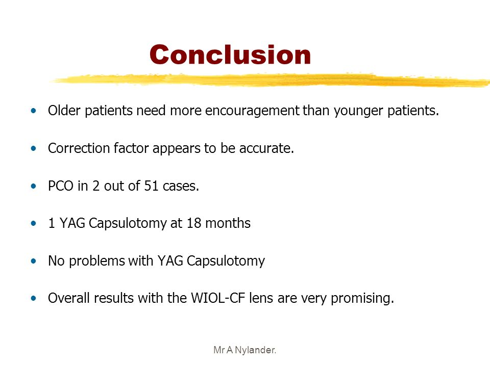 3/25/2017 Conclusion. Older patients need more encouragement than younger patients. Correction factor appears to be accurate.