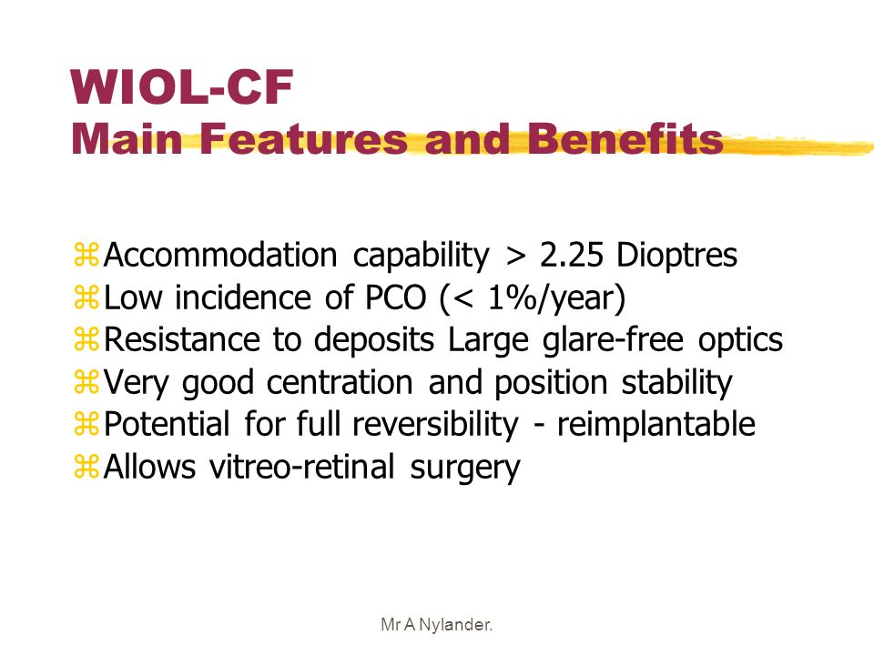 WIOL-CF Main Features and Benefits