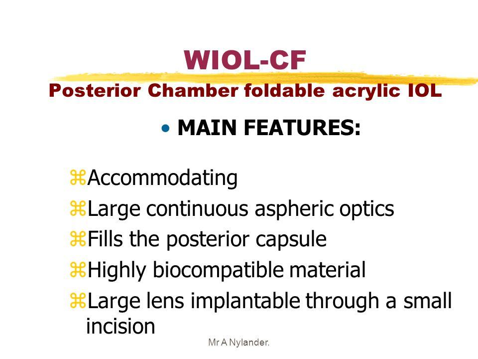 WIOL-CF Posterior Chamber foldable acrylic IOL