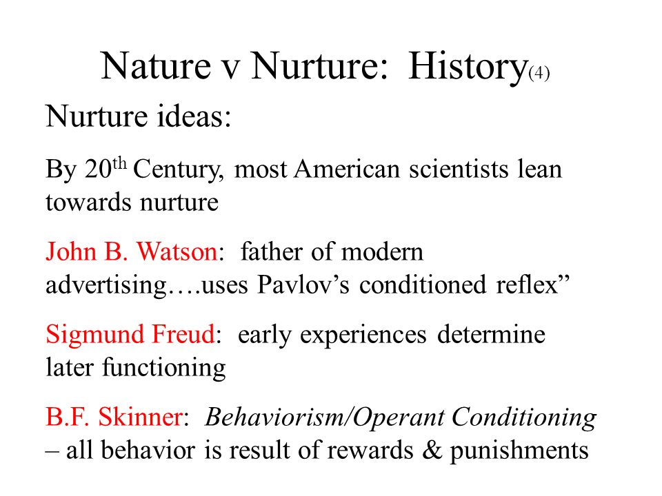Nature v Nurture: History(4)