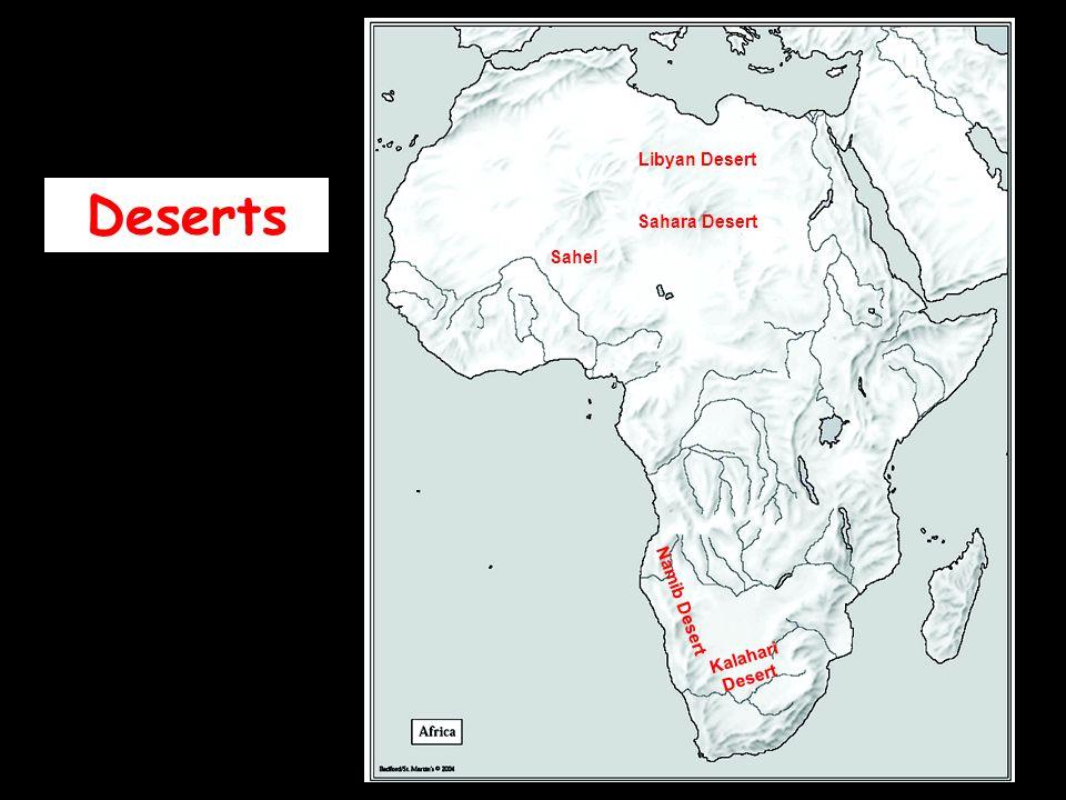 Libyan Desert Deserts Sahara Desert Sahel Namib Desert Kalahari Desert