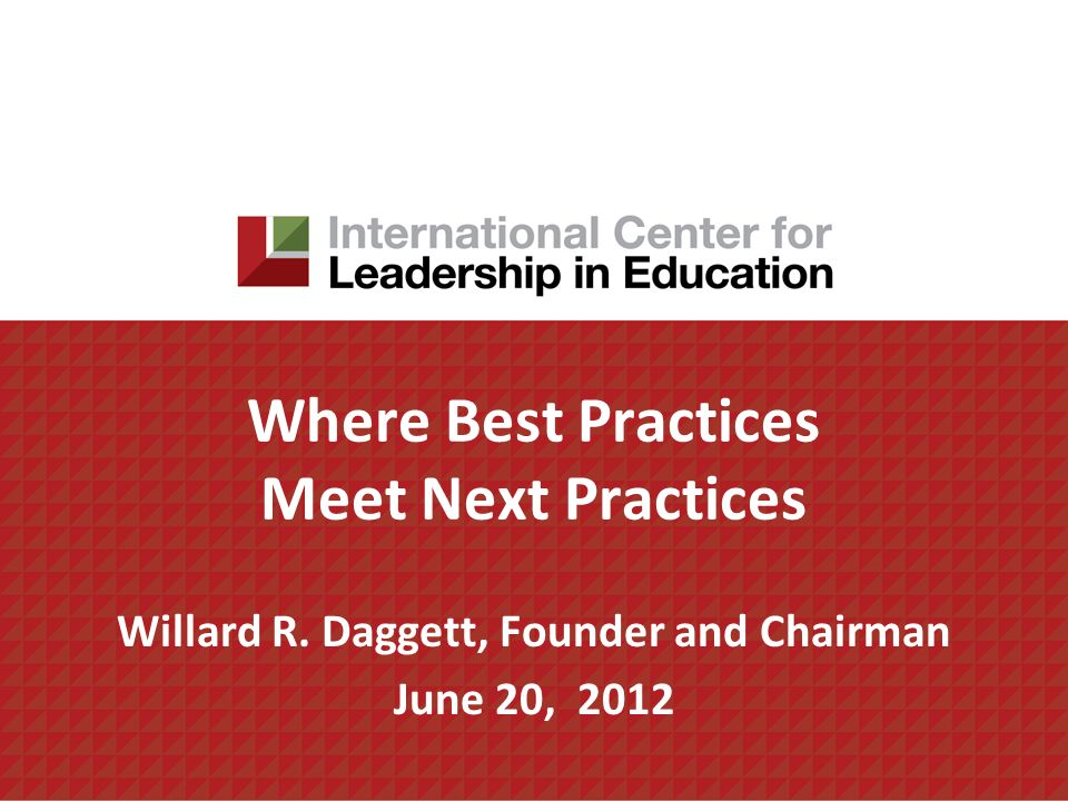 Where Best Practices Meet Next Practices