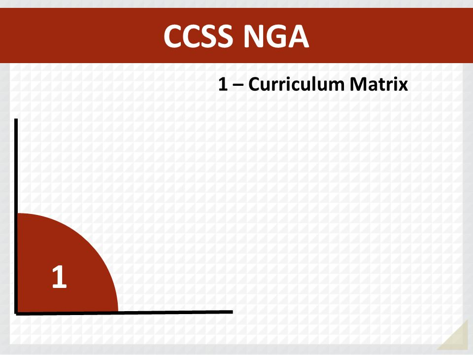 CCSS NGA 1 – Curriculum Matrix 1
