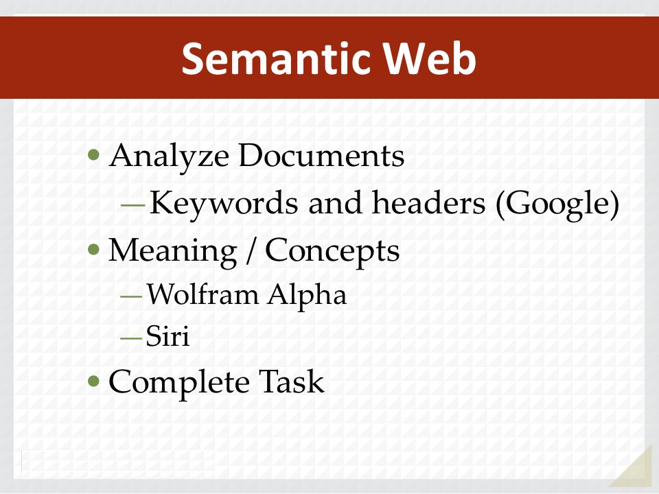 Semantic Web Analyze Documents Keywords and headers (Google)