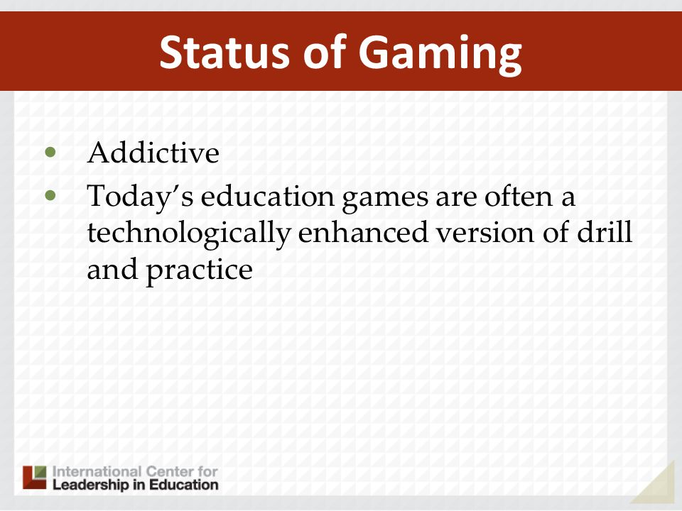 Status of Gaming Addictive