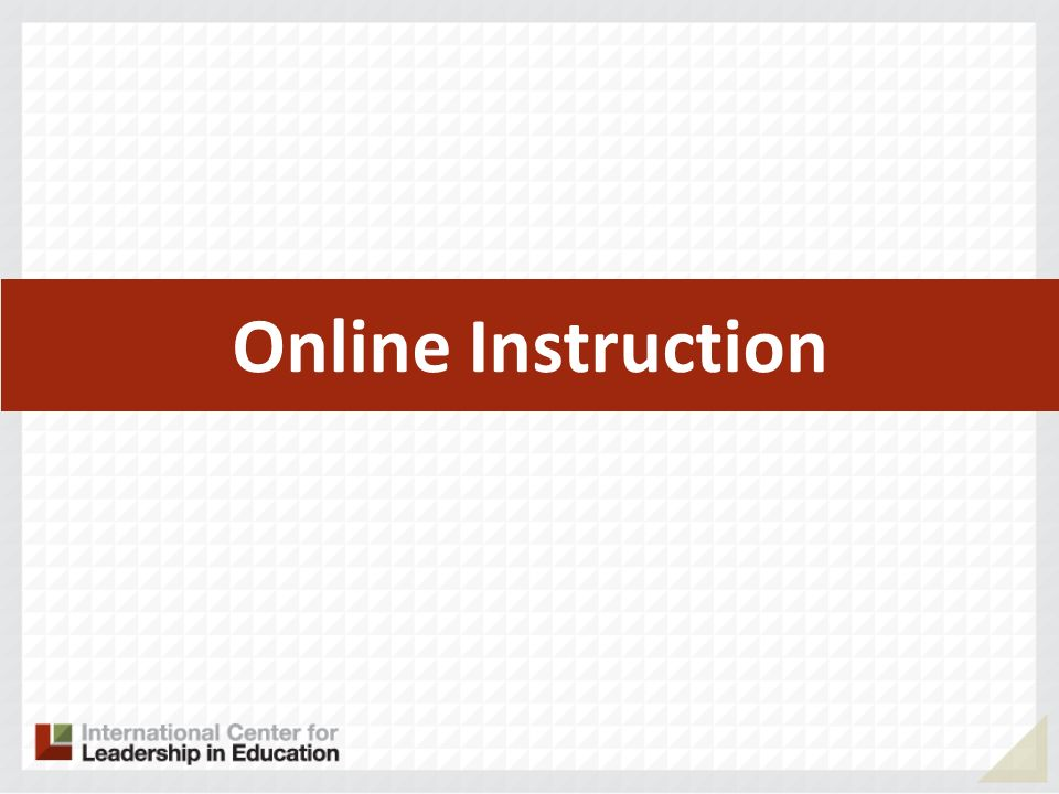 Online Instruction