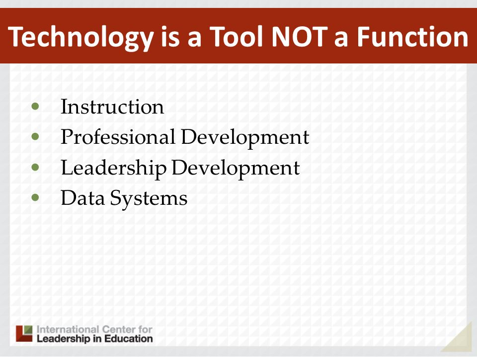 Technology is a Tool NOT a Function