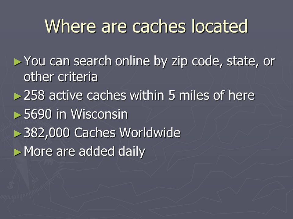 Where are caches located