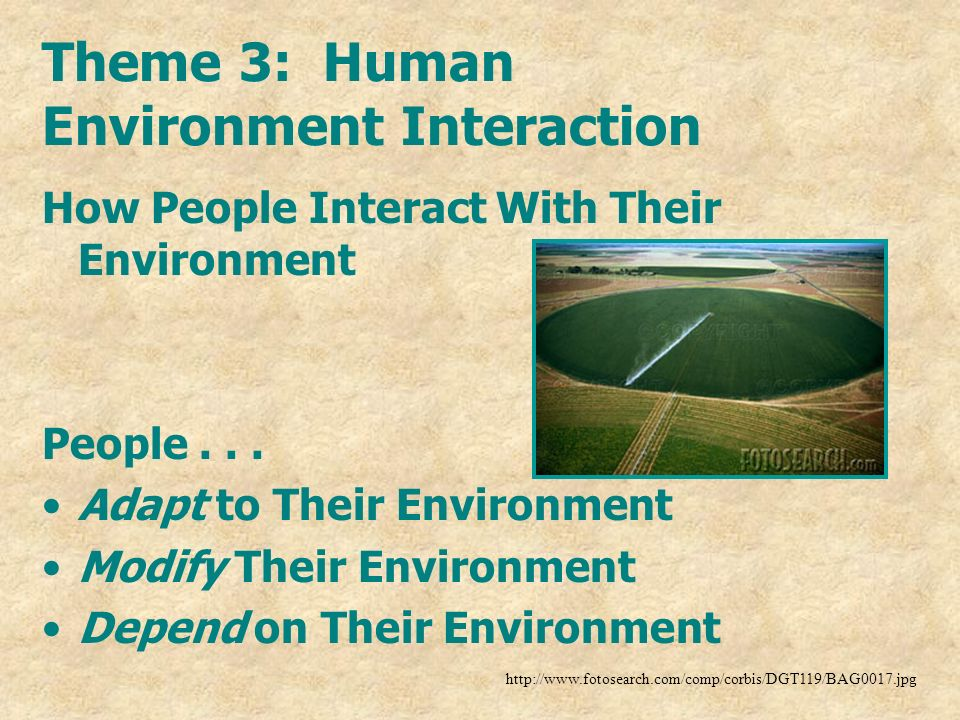 Theme 3: Human Environment Interaction