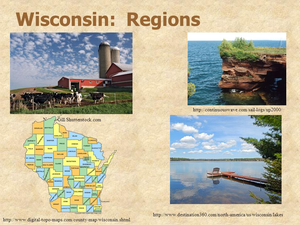 Wisconsin: Regions http://continuouswave.com/sail-logs/up2000/