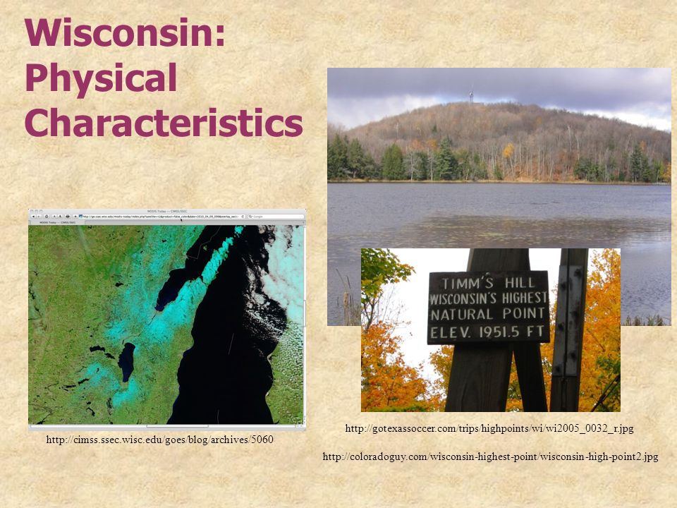 Wisconsin: Physical Characteristics