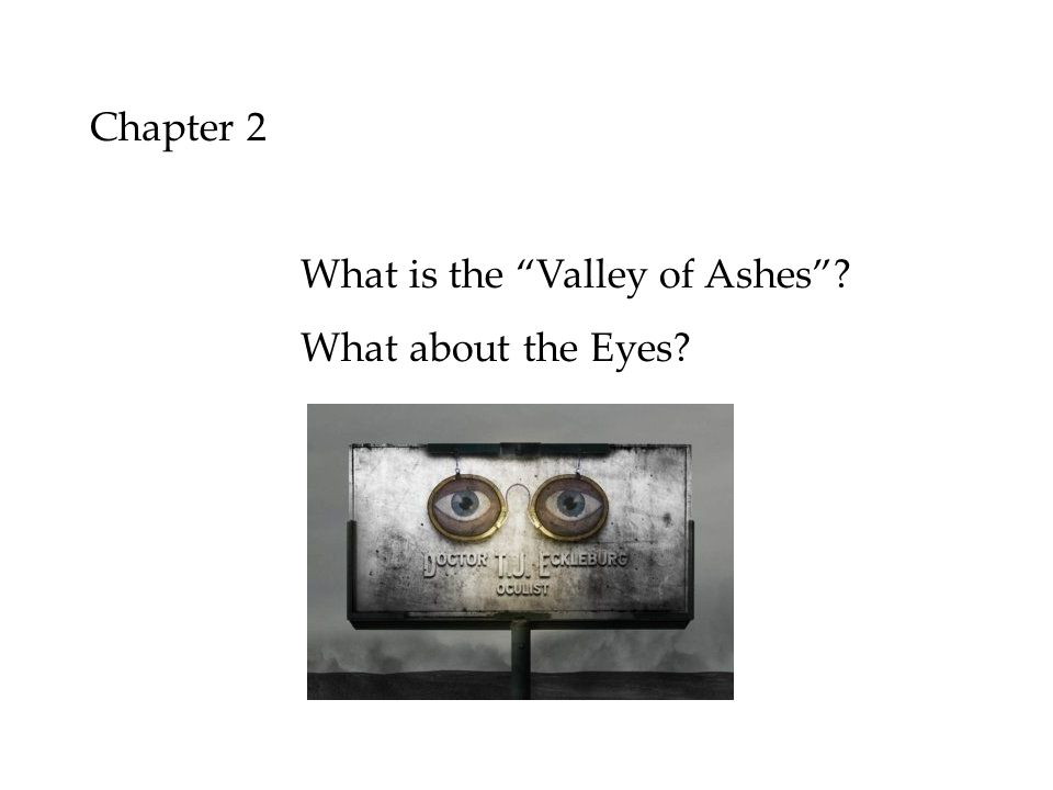 Chapter 2 What is the Valley of Ashes What about the Eyes