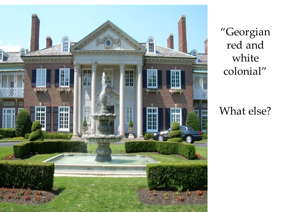 Georgian red and white colonial